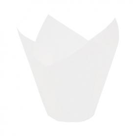 200 Pirottini TULIP CUP in carta bianchi - NOVACART