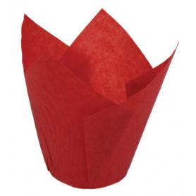 200 Pirottini TULIP CUP in carta rossi - NOVACART