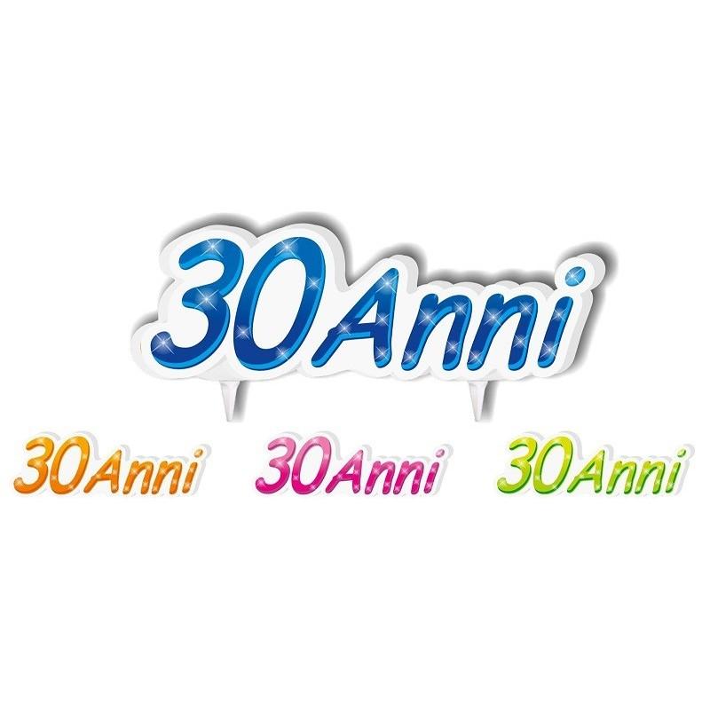 """Souvent Candelina sagomata """"30 Anni"""" disponibile in vari colori SI37"""