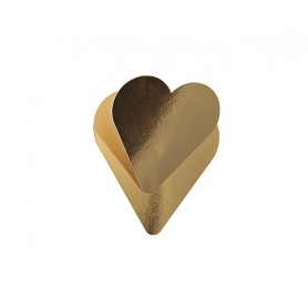 10 Sottotorta oro a forma di cuore San Valentino NOVACART