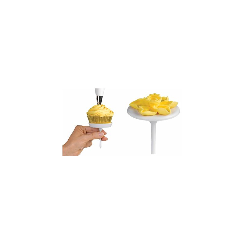 Set composto da 3 spilli x fiori e 1 spillo per cupcake - Accessori per cake design ...