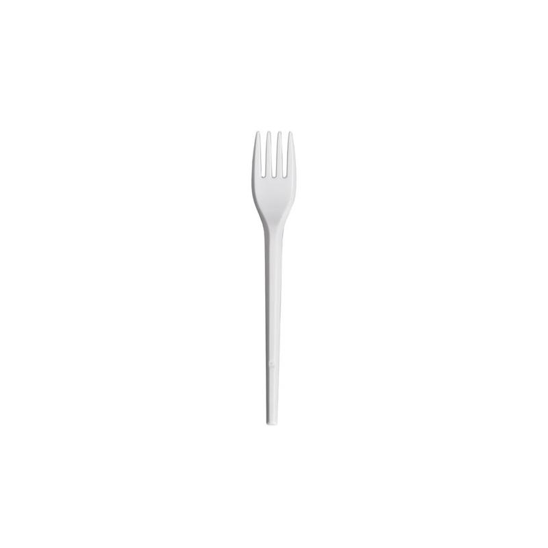 100 Forchette bianche GOLD PLAST