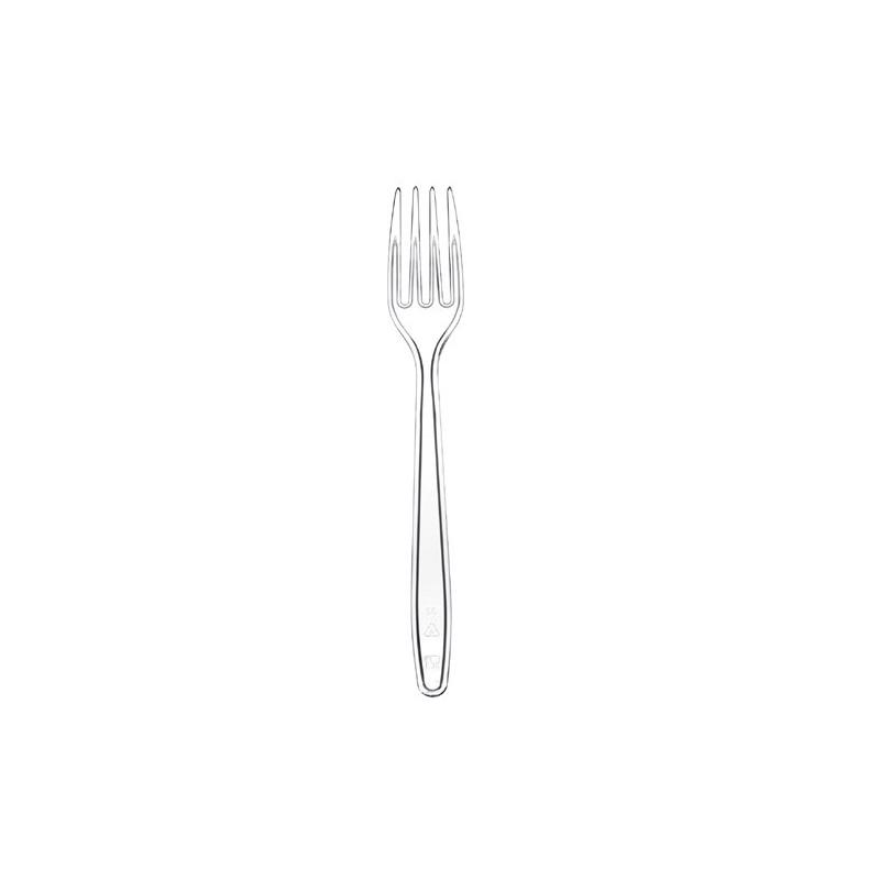 100 Forchette plastica trasparente GOLD PLAST