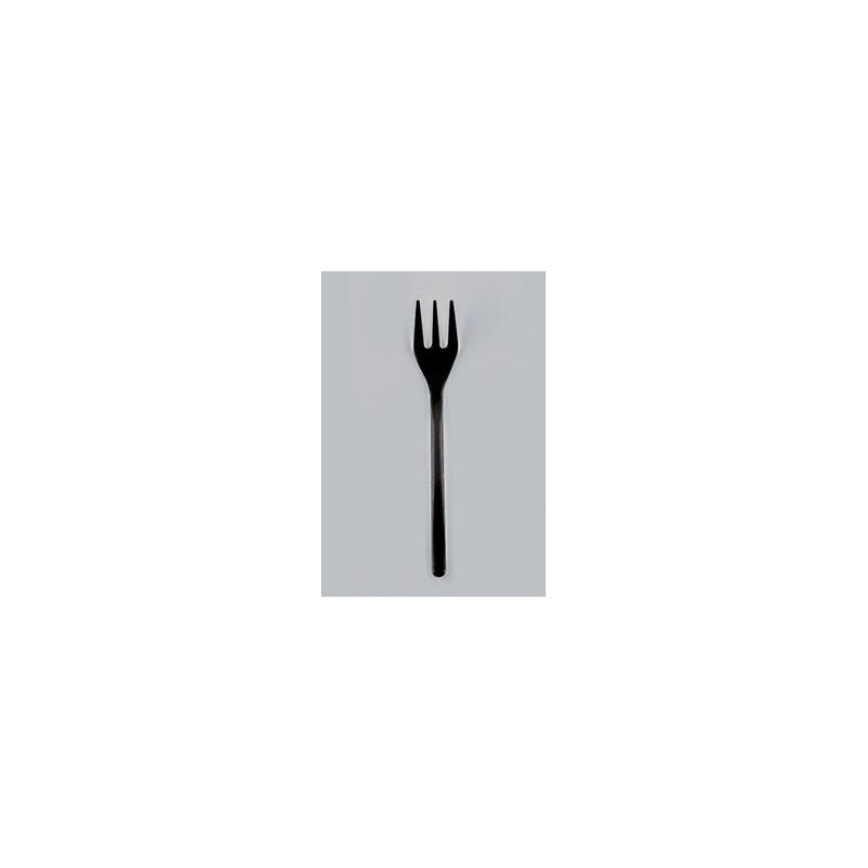 50 Mini forchette nere GOLD PLAST