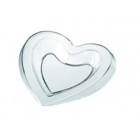 50 Vassoi monoporzione a forma di cuore in PS GOLD PLAST
