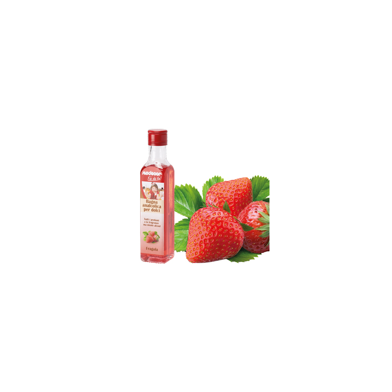 Bagna analcolica alla fragola, conf. da 325 gr Modecor.