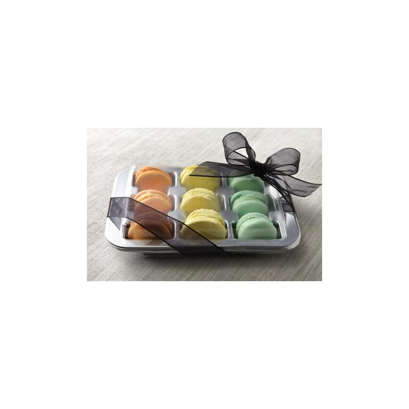 25 Vassoi porta macarons (9 pz) con coperchio ALCAS