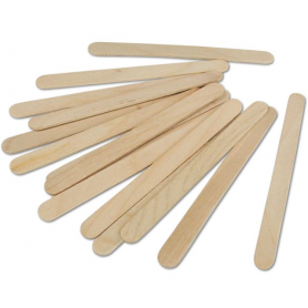 500 Stecche gelato con punta arrotondata in legno