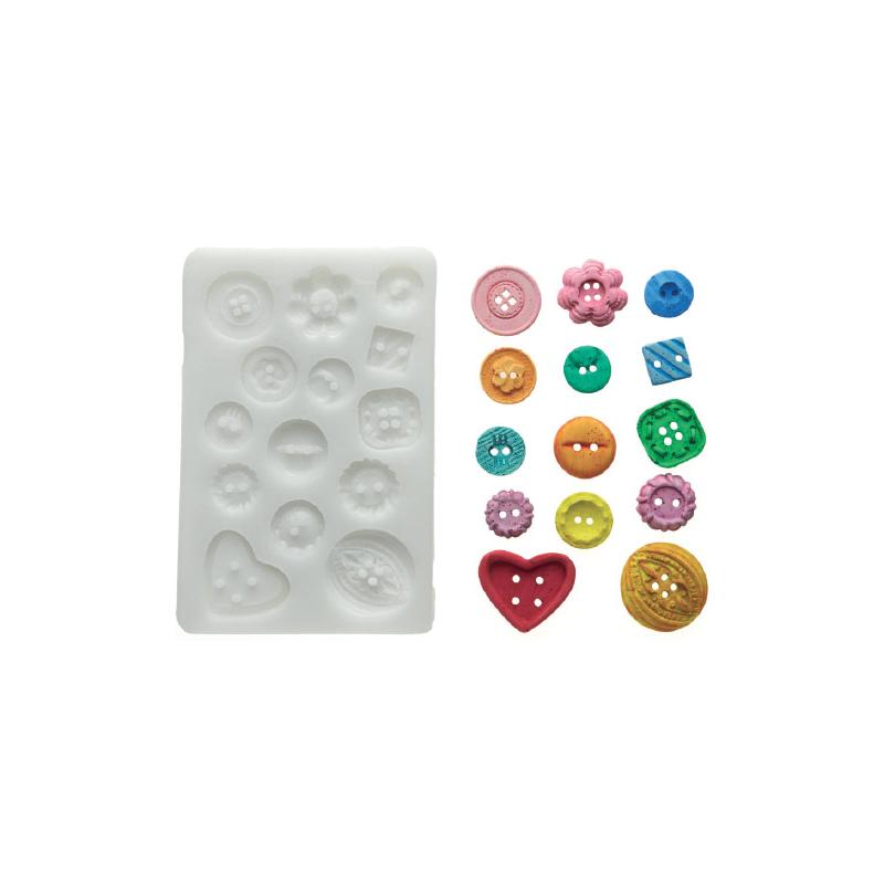Stampo in silicone Sugarflex Bottoni 2 SILIKOMART