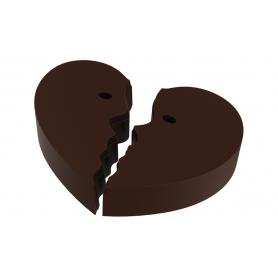 Stampo per 18 cioccolatini a forma di cuore spezzato POP CHOCOLAT