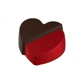 Stampo per 24 cioccolatini a forma di cuore infranto POP CHOCOLAT