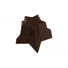 Stampo per 24 cioccolatini a forma di stelle gemelle POP CHOCOLAT