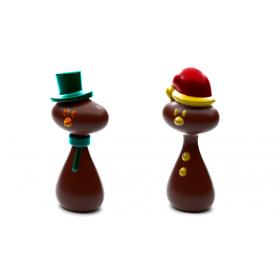 Stampo per cioccolatini Babbo Natale e pupazzo di neve POP CHOCOLAT