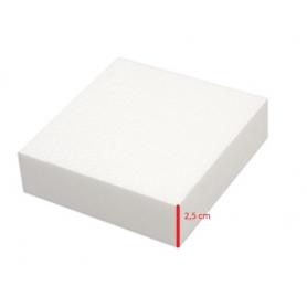 Base polistirolo professionale di forma quadrata - H. 2,5 cm.