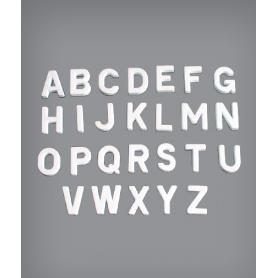 Polistiroli a forma di lettere dell'alfabeto