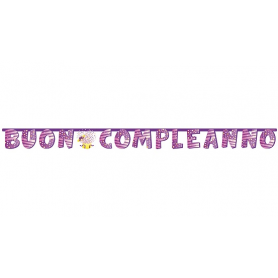 """Festone """"Buon compleanno"""" con palloncini"""