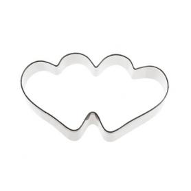 Tagliabiscotto a forma di doppio cuore PADERNO