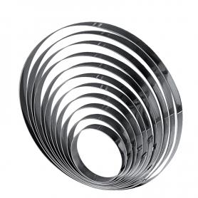 Cerchio in acciaio lucido per torte H. 2