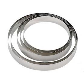 Cerchio in acciaio inox per torte H. 2