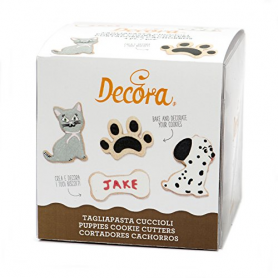 kit 4 Tagliapasta a forma di cane gatto impronta osso