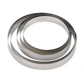 Cerchio in acciaio lucido per torte