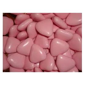 1 Kg. Cuoriandoli mini al cioccolato rosa
