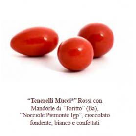 """Confetti """"Tenerelli"""" rossi 500 gr Mucci"""