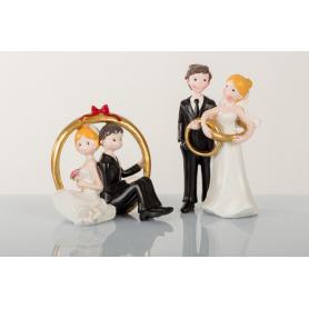 Cake Topper sposini sopratorta con anelli