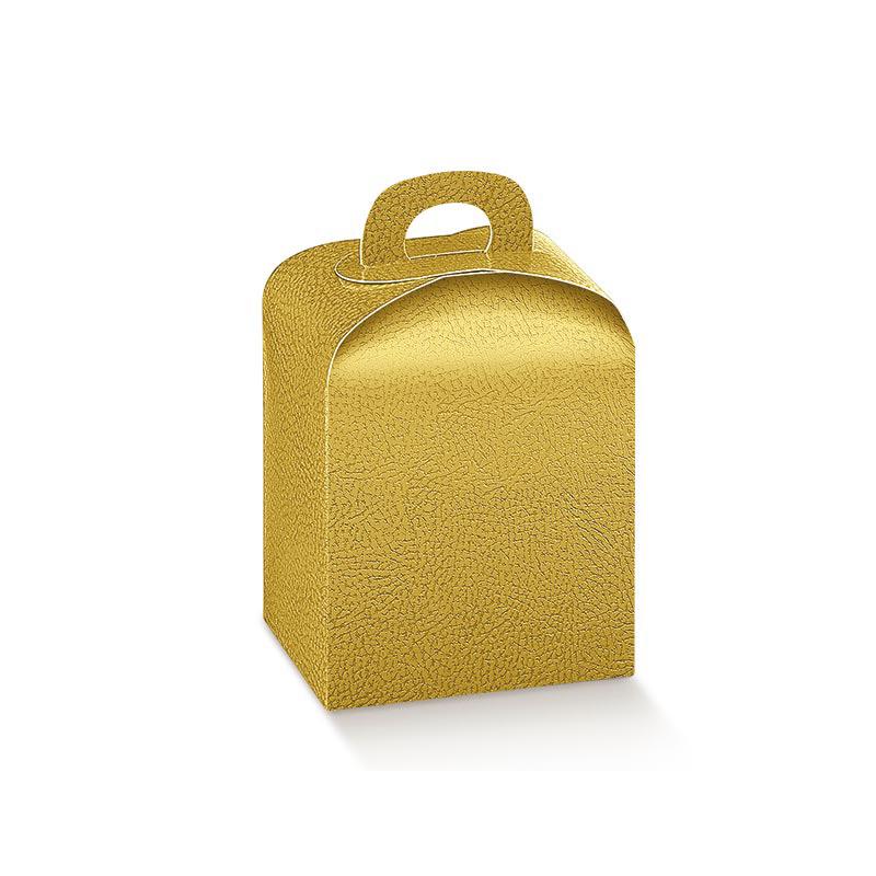 Scatola porta panettoncino oro