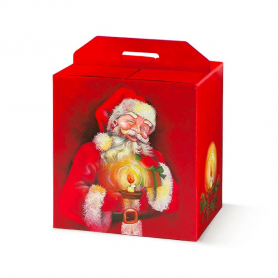 Scatole porta panettoncino Babbo Natale