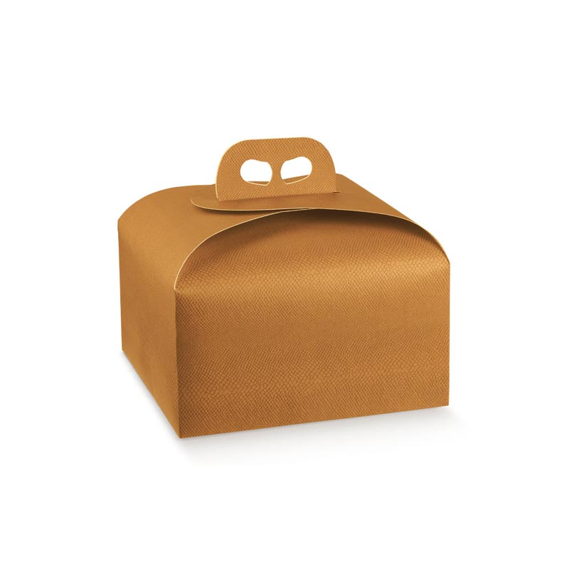 Scatola porta panettone arancione 1 Kg