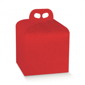 Scatola porta panettone rosso 1 Kg