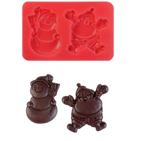 Stampo in silicone Babbo Natale duo MODECOR