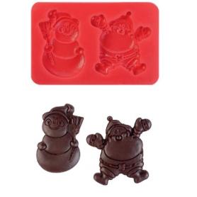 Stampo in silicone Babbo Natale duo MODECOR