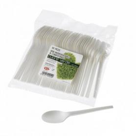 50 Cucchiai in fibra di mais LEONE