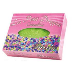 Cristalli di zucchero colore verde