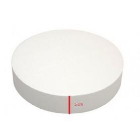 Base polistirolo professionale di forma rotonda - H. 5 cm