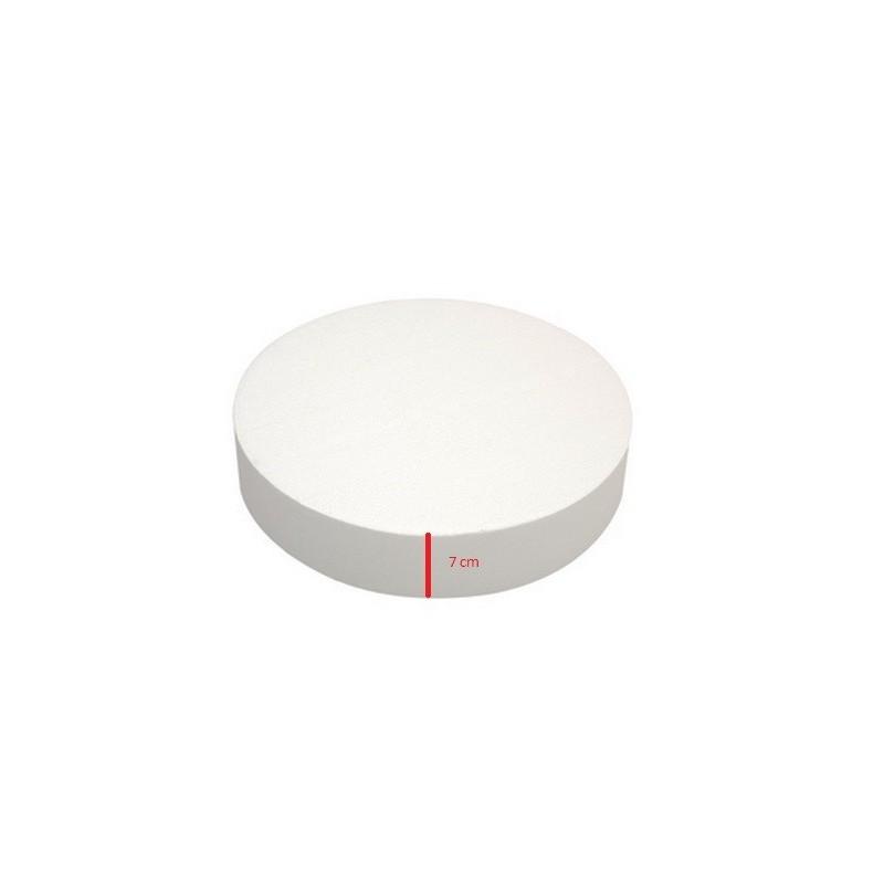 Base polistirolo professionale di forma rotonda - H. 7 cm