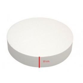 Base polistirolo professionale di forma rotonda - H. 10 cm