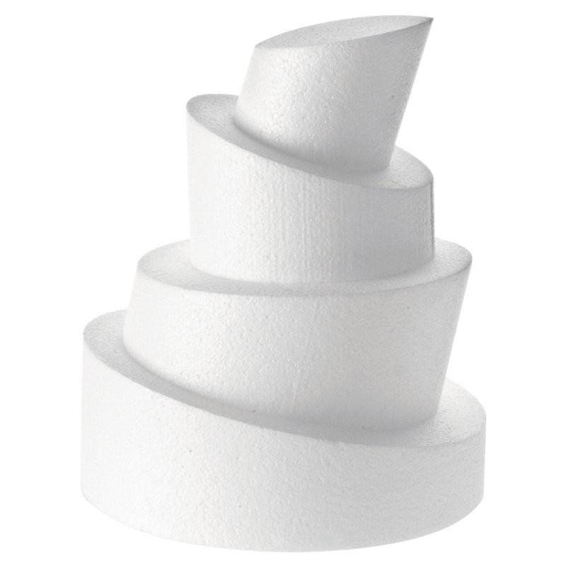 Base polistirolo professionale di forma wonky - H. 10/5 cm.