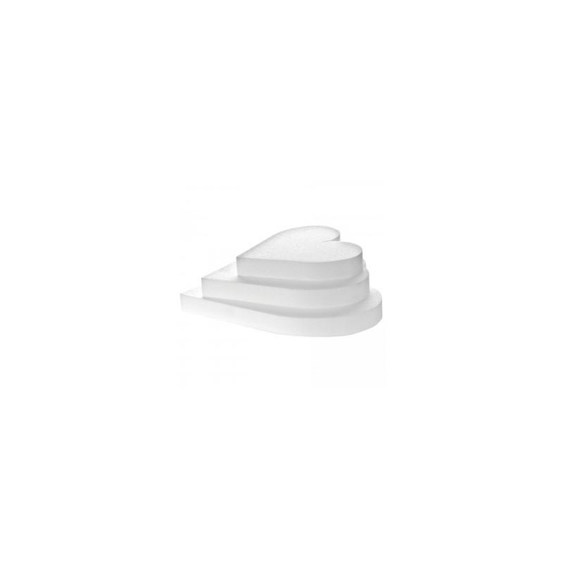 Base polistirolo professionale a forma di cuore - H. 5 cm.