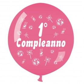 """Mongolfiera Primo Compleanno rosa 31"""""""