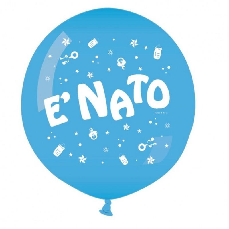 "Mongolfiera È Nato celeste 31"""