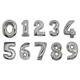 Pallone Mylar numeri H. 102 cm silver