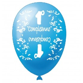 20 Palloncini 1° compleanno celeste