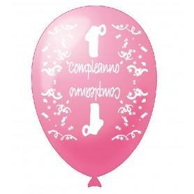 20 Palloncini 1° compleanno rosa