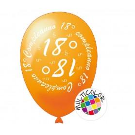 20 Palloncini 18° compleanno multicolor