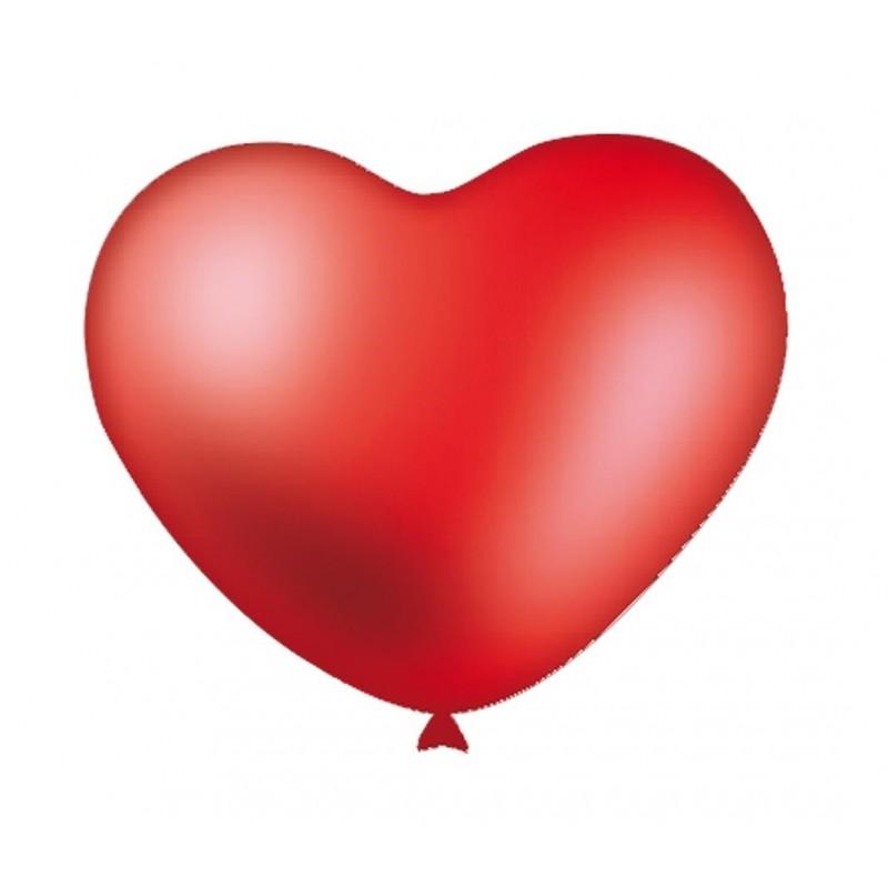 """12 Palloncini rossi a forma di cuore 9"""""""