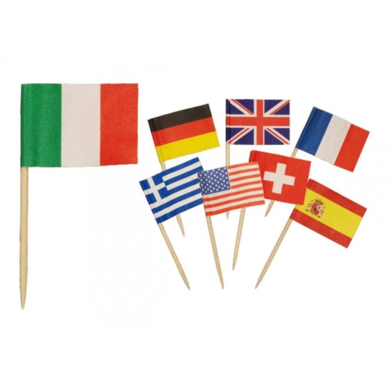 500 Stecchini decorativi Bandiere internazionali