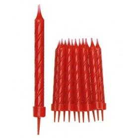 12 Candele rosse